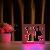 """Светильник ночник из дерева LED """"Улитка"""" с пультом и регулировкой цвета, двойной RGB"""