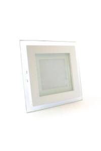 Led светильник стеклянный 6Вт 3000К квадрат IP20