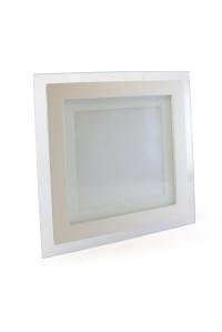 Led светильник стеклянный 12Вт 4000К квадрат IP20