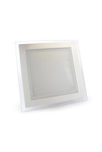 Led светильник стеклянный 18Вт 3000К квадрат IP20