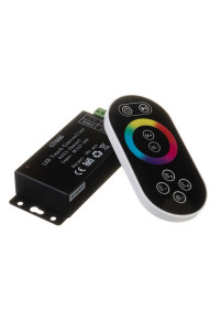 Контроллер черный RGB 18A-216Вт, (8 кнопок)