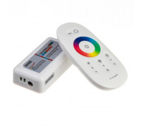 Контроллер белый RGB 18A-216Вт, (8 кнопок)