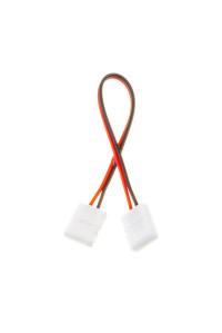 Коннектор для LED ленты 12В 10мм провод+2 зажима