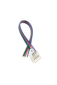Коннектор для LED ленты RGB 12В 10мм провод+зажим