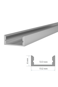 Профиль для LED лент без покрытия накладной Пф-18 2м