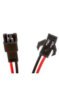 Комплект коннекторов для LED ленты папа+мама 12В 2pin черный с зажимом