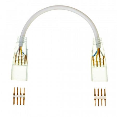 Купить Соединительный коннеткор для светодиодной ленты 220V smd5050 (2 разъема+2 шт. 4pin)