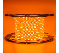 Led лента оранжевая 220V AVT smd2835 120LED/m 4Вт/m IP65, 1м