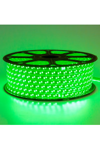 Led лента зеленая 220V smd2835 120LED/m 12Вт/m IP65
