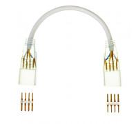 Соединительный коннеткор для светодиодного неона AVT RGB 220V smd5050 (2 разъема+2 шт. 4pin) с проводом