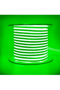 Led неон зеленый AVT 220V smd2835 120LED/m 7Вт/m IP65