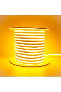 Led неон желтый AVT 220V smd2835 120LED/m 7Вт/m IP65