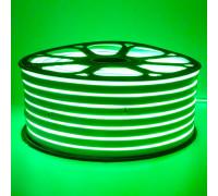 Led неон зеленый 220V smd2835 120LED/m 12Вт/m IP65, 1м