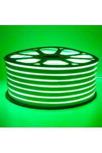 Led неон зеленый 220V smd2835 120LED/m 12Вт/m IP65