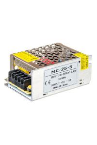 Блок питания led 5V MС/5A 25 Bт IP 20