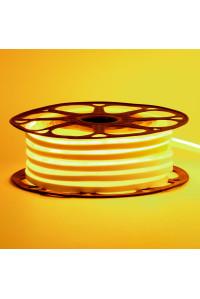 Led неон желтый AVT-1 220V smd2835 120LED/m 7Вт/m IP65, 1м