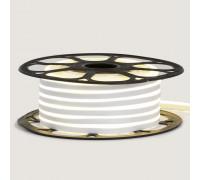 Неоновая светодиодная лента белая 12V AVT 120LED/m 6W/m 6*12 IP65 silicone, 1м