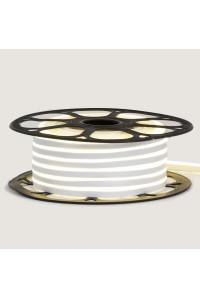 Неоновая светодиодная лента белая 12V AVT 120LED/m 6W/m 6*12 IP65 silicone