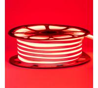 Неоновая светодиодная лента красная 12V AVT 120LED/m 6W/m 6*12 IP65 silicone, 1м