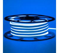 Неоновая светодиодная лента синяя 12V AVT 120LED/m 6W/m 6*12 IP65 silicone, 1м