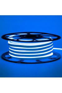 Неоновая светодиодная лента синяя 12V AVT 120LED/m 6W/m 6*12 IP65 silicone