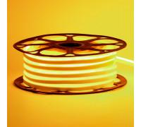 Неоновая светодиодная лента желтая 12V AVT 120LED/m 6W/m 6*12 IP65 silicone, 1м