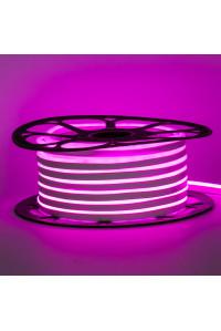 Неоновая светодиодная лента розовая 12V AVT 120LED/m 6W/m 6*12 IP65 silicone, 1м
