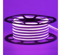 Неоновая светодиодная лента фиолетовая 12V AVT 120LED/m 6W/m 6*12 IP65 silicone, 1м