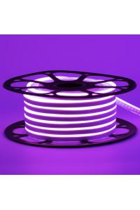 Неоновая светодиодная лента фиолетовая 12V AVT 120LED/m 6W/m 6*12 IP65 silicone