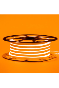 Неоновая светодиодная лента оранж 12V AVT 120LED/m 6W/m 6*12 IP65 silicone