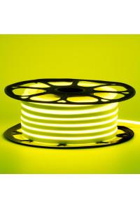 Неоновая светодиодная лента лимонный желтый 12V AVT 120LED/m 6W/m 6*12 IP65 silicone