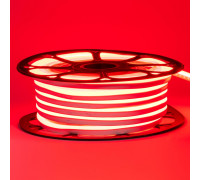 Led неон красный 12V smd2835 120LED/m 6Вт/m 8х16мм pvc IP65, 1м