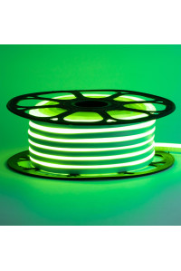 Led неон зеленый 12V smd2835 120LED/m 6Вт/m 8х16мм pvc IP65, 1м