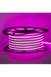 Led неон розовый 12V smd2835 120LED/m 6Вт/m 8х16мм pvc IP65, 1м