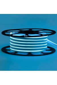 Led неон голубой 12V smd2835 120LED/m 6Вт/m 8х16мм pvc IP65, 1м