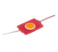 Модуль светодиодный красный 12V СОВ круглый 1LED 2,4W IP65