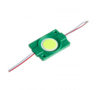 Led модуль зеленый СОВ 12V 1LED 2.4Вт круг IP65