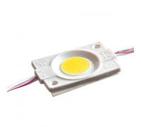 Светодиодный модуль   желтый 12V СОВ круглый 1LED 2,4W IP65