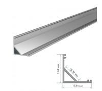 Профиль для LED лент накладной ПФ-9 полуматовый рассеиватель (комплект) 2м