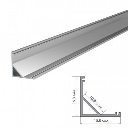 Купить Профиль для LED лент накладной ПФ-9 полуматовый рассеиватель (комплект) 2м