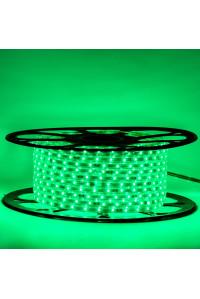 Мигающая led лента зеленая 220V smd2835 48LED/m 6Вт/m IP65, 1м