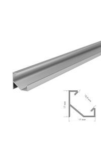 Профиль светодиодный угловой ПФ-20 рассеиватель (комплект) 2m