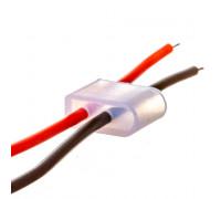 Монтажный комплект для светодиодного неона 12 В 6 мм (2 провода + 2 заглушки)