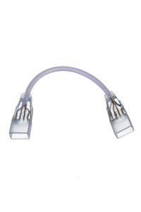Коннектор двухсторонний для лед лент 220V 5mm/провод 2pin
