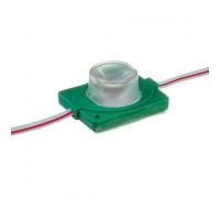 Модуль инжекторный светодиодный зеленый 12V smd3030 1LED 1.5W IP65