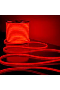 Круглая неоновая лента красная AVT 220V smd2835 120LED/м 7Вт/м IP65